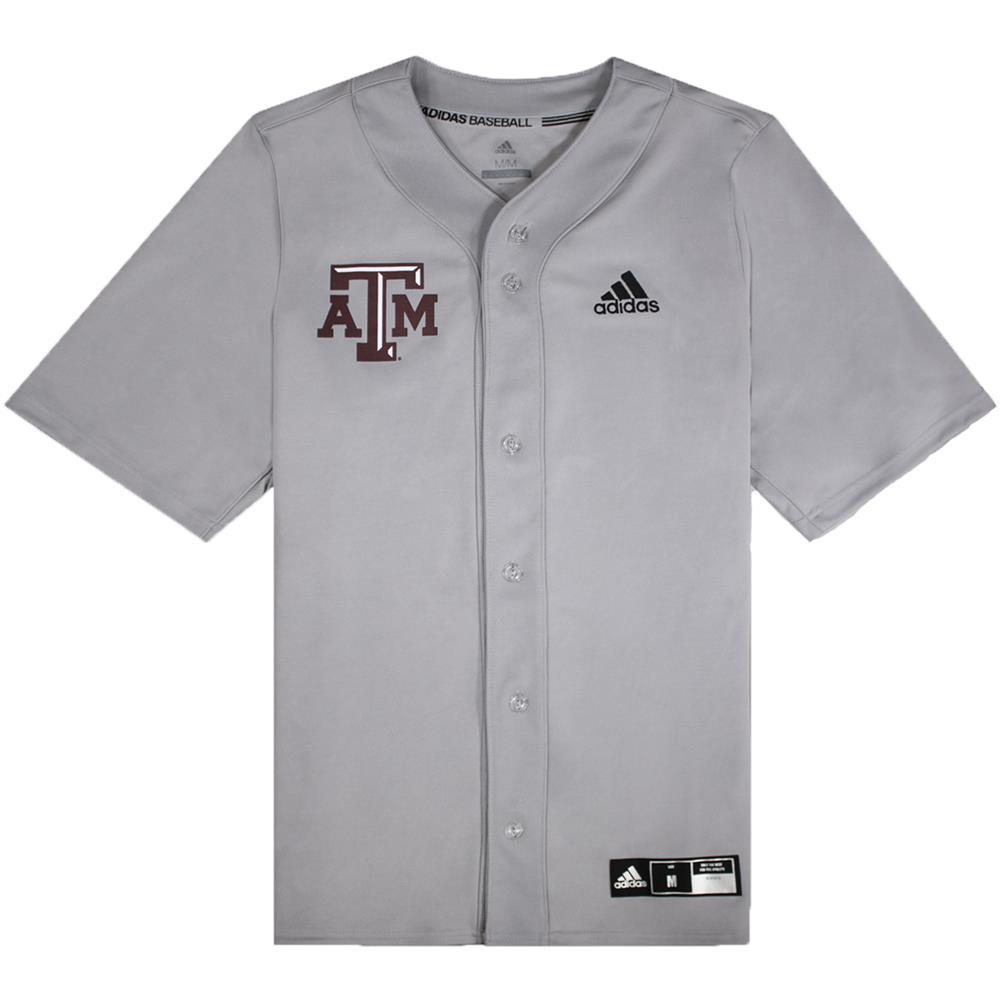 Texas A&M Adidas Diamond King Elite Full Button Baseball Jersey ...