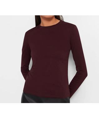 LONG SLEEVE TINY TEE IN COTTON