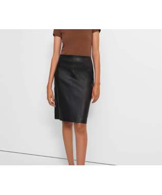 PENCIL SKIRT LEATHER COMBO