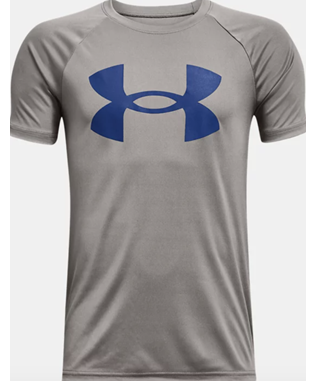 Boys UA Tech Big Logo Short Sleeve