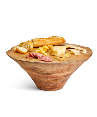 Wooden Plateau Hand-Crafted Centerpiece
