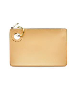 Gold Rush Confetti Silicone Pouch - larg