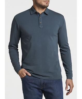 Lava Wash Jersey Long Sleeve Polo