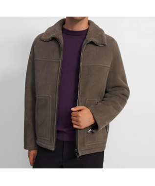 Bomber Jacket in Shearling