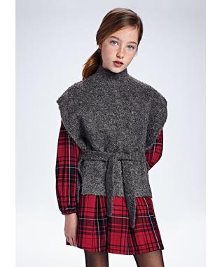 KNIT VEST WITH TIE