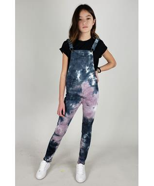 TIE DYE OVERALL JUMPSUIT