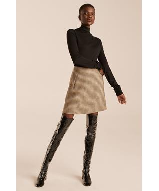 DOUBLE FACED WOOL SKIRT