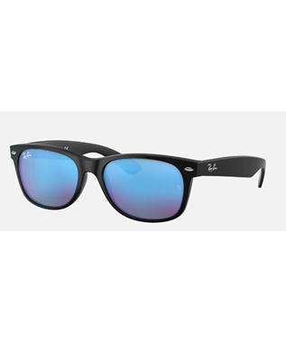 NEW WAYFARER - RUBBER BLACK/BLUE MIRROR