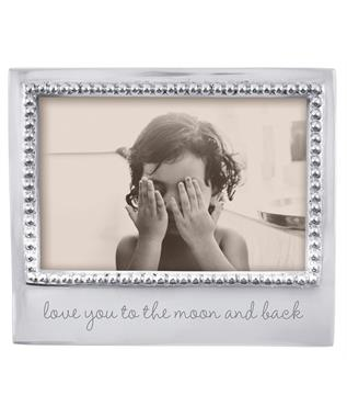 LOVE YOU TO THE MOON BEADED 4 X 6 FRAME