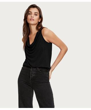LUX JERSEY EVE COWL NECK TOP