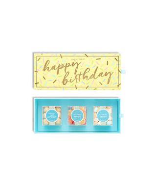 HAPPY BIRTHDAY 3 PIECE BENTO BOX
