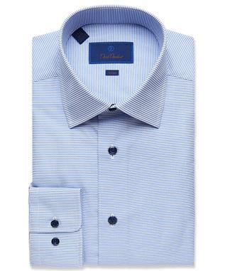 BLUE CHECK DRESS SHIRT