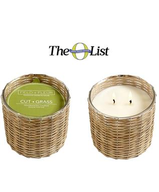 CUT GRASS 2 WICK WOVEN CANDLE