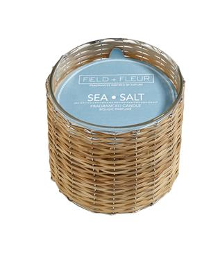 SEA SALT 2 WICK WOVEN CANDLE