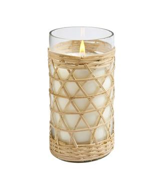 BAMBOO WOVEN GLASS CANDLE