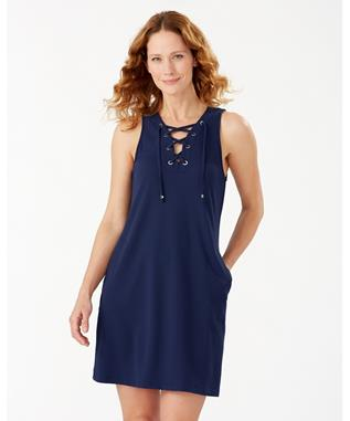 ISLAND CAYS LACE UP SPA DRESS