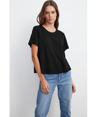 COTTON SLUB CROP TEE