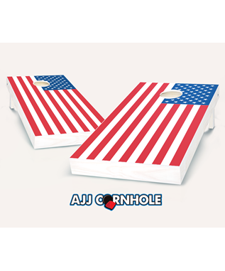 AMERICAN FLAG CORN HOLE