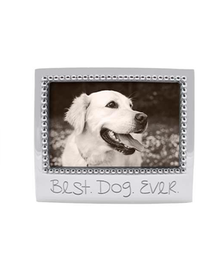 BEST DOG EVER BEADED 4 X 6 FRAME