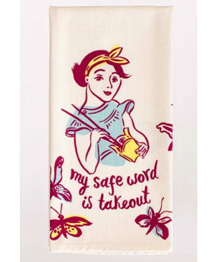 MY SAFE WORD PRINTED DISH TOWEL