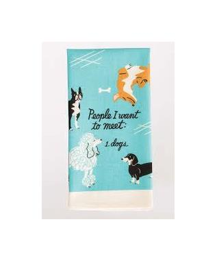 PEOPLE TO MEET DOGS PRINTED DISH TOWEL
