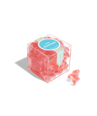 PINK FLAMINGO SMALL CANDY CUBE