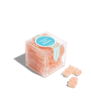 SPARKLING ROSE BEARS SMALL CANDY CUBE