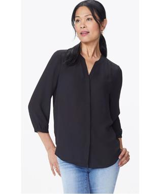 PINTUCK L/S BLOUSE SOLID