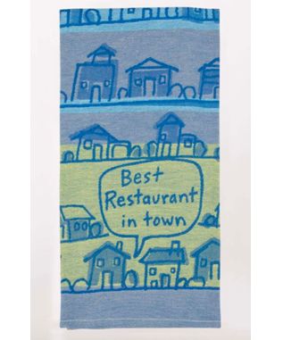 BEST RESTAURANT TOWN WOVEN DISH TOWEL