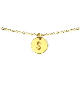 LETTER DISC NECKLACE S