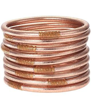 ROSE GOLD ALL WEATHER BANGLES MD (SET OF 9) SZ SMALL