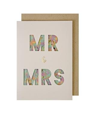 Mr & Mrs Confetti Shaker wedding card