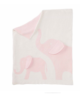 PINK ELEPHANT CHENILLE BLANKET