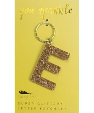 Glitter Keychain - Letter - E