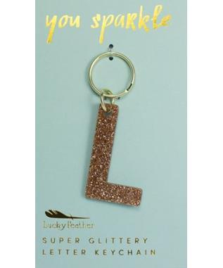 Glitter Keychain - Letter - L