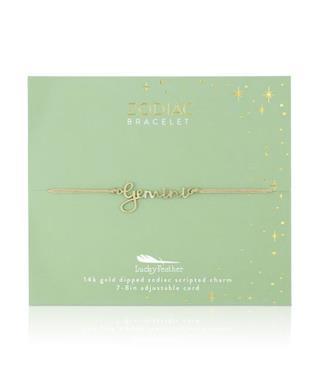 Zodiac Cord Bracelet Gold - GEMINI