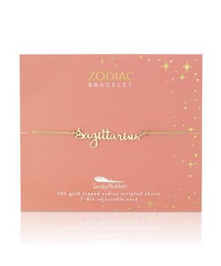 Zodiac Cord Bracelet Gold - SAGITTARIUS