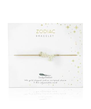 Zodiac Cord Bracelet Gold - VIRGO