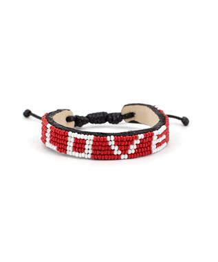 RED AND WHITE LOVE BRACELET