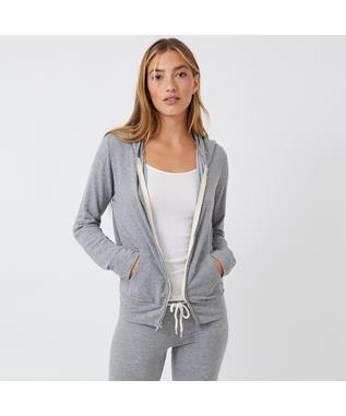 HEATHER SUPERSOFT ZIP UP HOODY