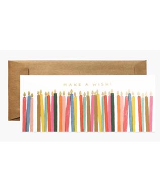 MAKE A WISH CANDLES BIRTHDAY CARD