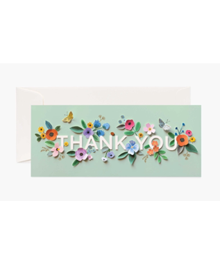 CUT PAPER THANK YOU CARD