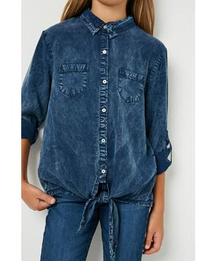 Garment Dye Tencel Button Up Shirt