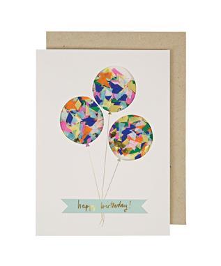 Balloon Confetti Shaker BDAY CARD