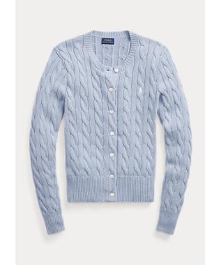 CABLE CARDI LONG SLEEVE SWEATER