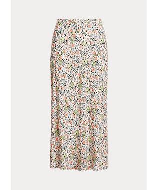 Floral Crepe Skirt