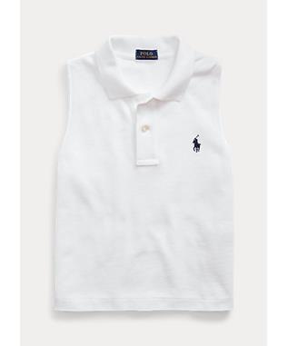 Cotton Sleeveless Polo Shirt