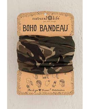 OLIVE CAMO BOHO BANDEAU
