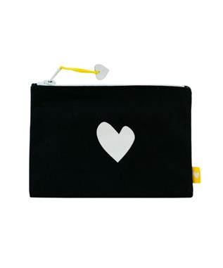 IMPERFECT HEART CANVAS POUCH