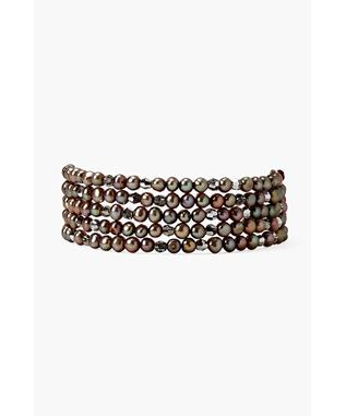 TAUPE PEARL MIX BEAD BRACELET